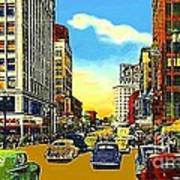 Kress And Woolworth's Stores In Seattle Wa In 1950 Art Print