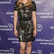 Kristen Bell Wearing A Dress By Sea Art Print