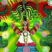 Kundalini Rising And The Tree Of Twelve Fruits Art Print