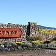 Kunde Family Estate Winery - Sonoma California - 5d19316 Art Print by Wingsdomain Art and Photography