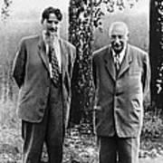 Kurchatov And Ioffe, Soviet Physicists Art Print