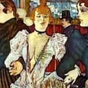 La Goule Arriving At Moulin Rouge Art Print