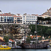 A Galleon At Bottom Of Port Mahon Menorca One Of The Largest Natural Harbours In The World Art Print