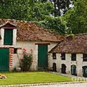 La Pillebourdiere Old Farm Outbuildings In The Loire Valley Art Print by Louise Heusinkveld
