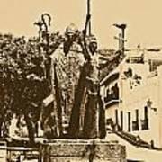 La Rogativa Sculpture Old San Juan Puerto Rico Rustic Art Print