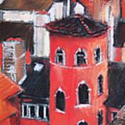 La Tour Rose In Lyon 1 Art Print