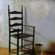 Ladderback Art Print by Judi Bagwell