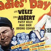 Ladies Day, Eddie Albert, Patsy Kelly Art Print