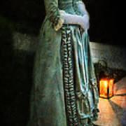 Lady By Lantern Light Art Print