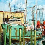 Lady Grace Trawler Art Print by Peter Sit