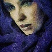 Lady In Blue Art Print by Gun Legler