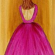 Lady In Pink 4536 Art Print by Jessie Meier