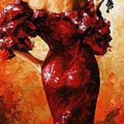 Lady In Red 33 Art Print