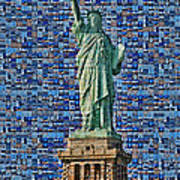 Lady Liberty Mosaic Art Print
