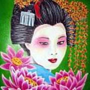 Lady Lotus Art Print