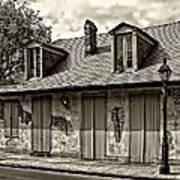 Lafittes Blacksmith Shop Bar In Sepia Art Print