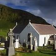 Lagg Church, Inishowen Peninsula, Co Art Print