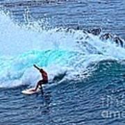 Laguna Surfer Art Print