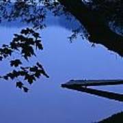Lake And Trees At Dusk Art Print