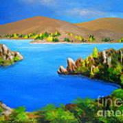 Lake  Aviemore - - Fine Art Impressionist Serenity Landscape Art Print