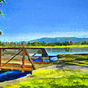 Lake Balboa Bridge Art Print