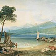Lake Geneva And Mont Blanc Print by Joseph Mallord William Turner