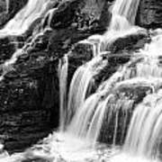 Lake Mcdonald Falls Glacier National Park Art Print