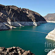 Lake Mead By Hoover Dam Art Print