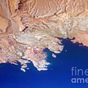 Lake Mead Shores Nv Planet Earth Art Print