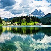 Lake Misurina - Dolomites, Italy Art Print