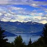 Lake Of Como View Art Print