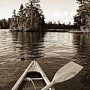 Lake Of The Woods, Ontario, Canada Boat Art Print