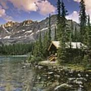 Lake Ohara Lodge Art Print