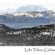 Lake Tahoe California In Winter Art Print