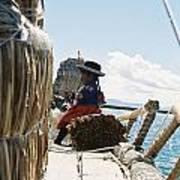 Lake Titicaca Reed Boat Art Print