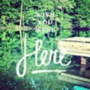 #lake #water #sign #amazing #tagstagram Art Print