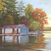 Lake Wylie Boathouse Art Print
