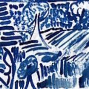 Lakes Of Flowing Art Print