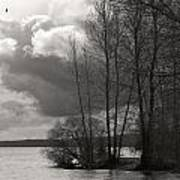 Lakeside Storm Passing Art Print