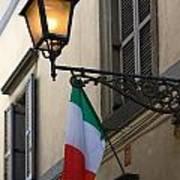 Lamp And Flag Art Print