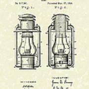 Lamp Pomeroy 1894 Patent Art Art Print by Prior Art Design