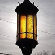 Lamp Post At The Church Art Print