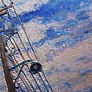 Lamp Post Lachine Canal Art Print