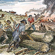 Land Clearing, C1830 Art Print