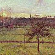 Landscape At Eragny Art Print