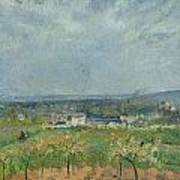 Landscape In Pontoise Art Print by Camille Pissarro