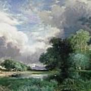 Landscape With A Bridge Art Print