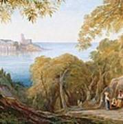 Landscape With View Of Lerici Art Print