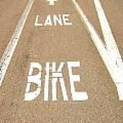 Lane Bike Art Print by Jenny Senra Pampin