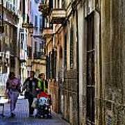Lane In Palma De Majorca Spain Art Print